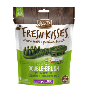 Merrick Fresh Kisses Grain Free Coconut Oil and Botanicals Large Dental Dog Treats