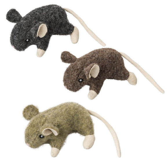 Ethical Products Cat Wool Mouse Willie With Catnip Assorted Cat Toy