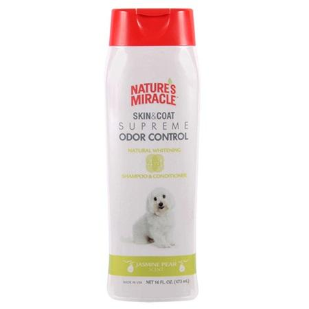Nature's Miracle Skin & Coat Supreme Odor Control - Natural Whitening Shampoo & Conditioner