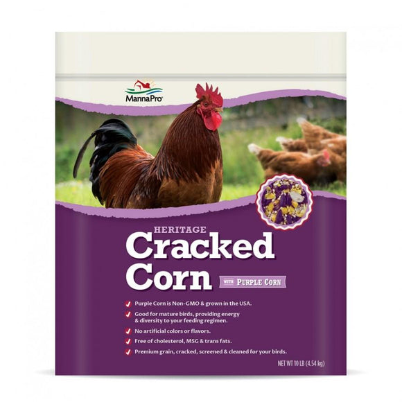Manna Pro Adult Poultry Care Cracked Corn for chickens with Purple Corn