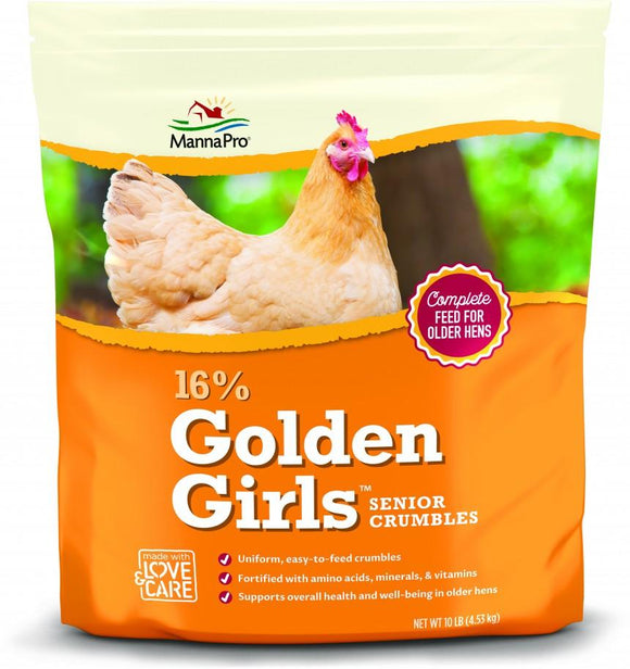 Manna Pro Adult Poultry Care Golden Girls Senior Crumbles