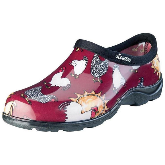 Sloggers Women's Waterproof Comfort Shoe- Chicken Red