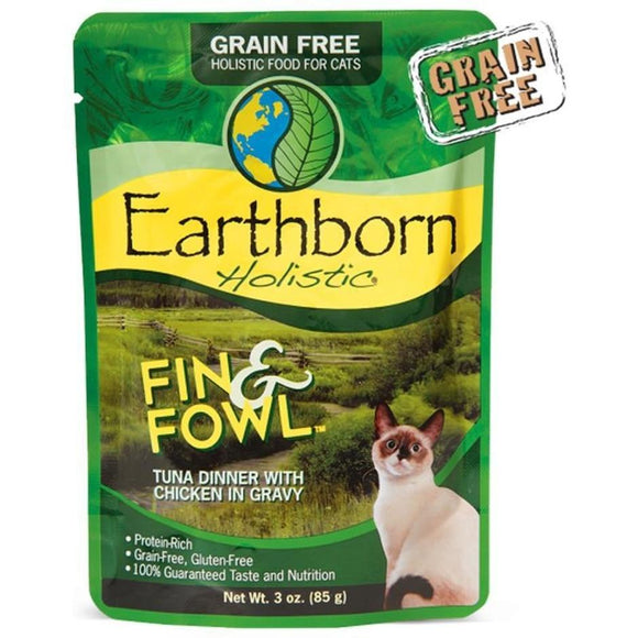 EARTHBORN HOLISTIC FIN & FOWL GF CAT POUCH