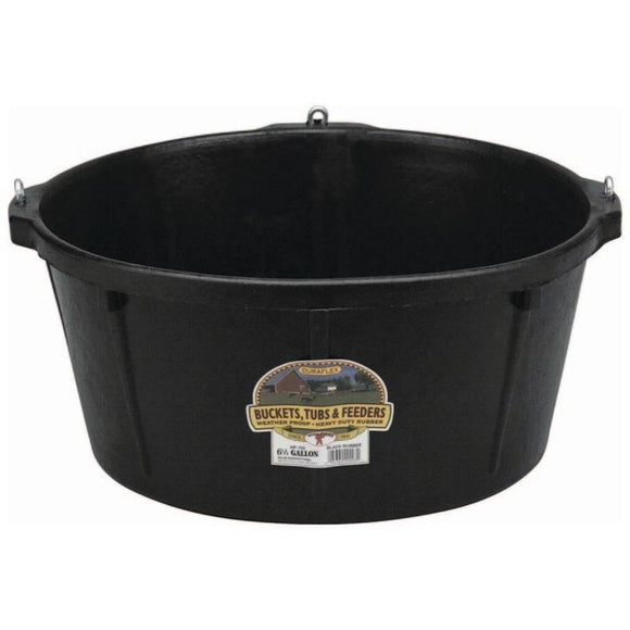LITTLE GIANT RUBBER FEEDER TUB W/HOOKS