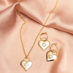 Stole My Heart Away Lock Hoops