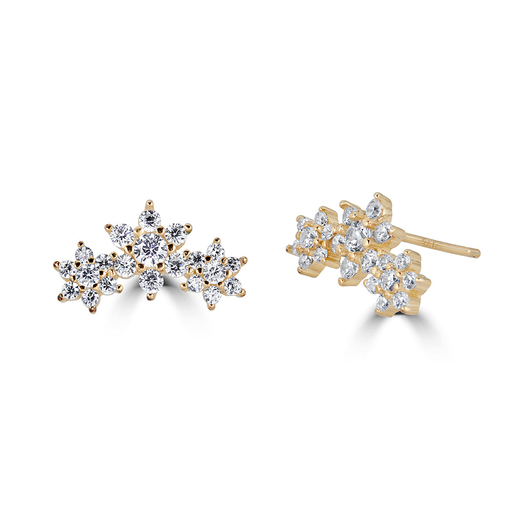 Flower Stacked Studs