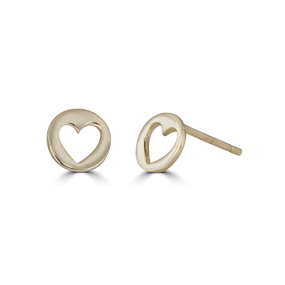Heart Cut Out Studs