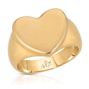 Jane Heart Signet Ring