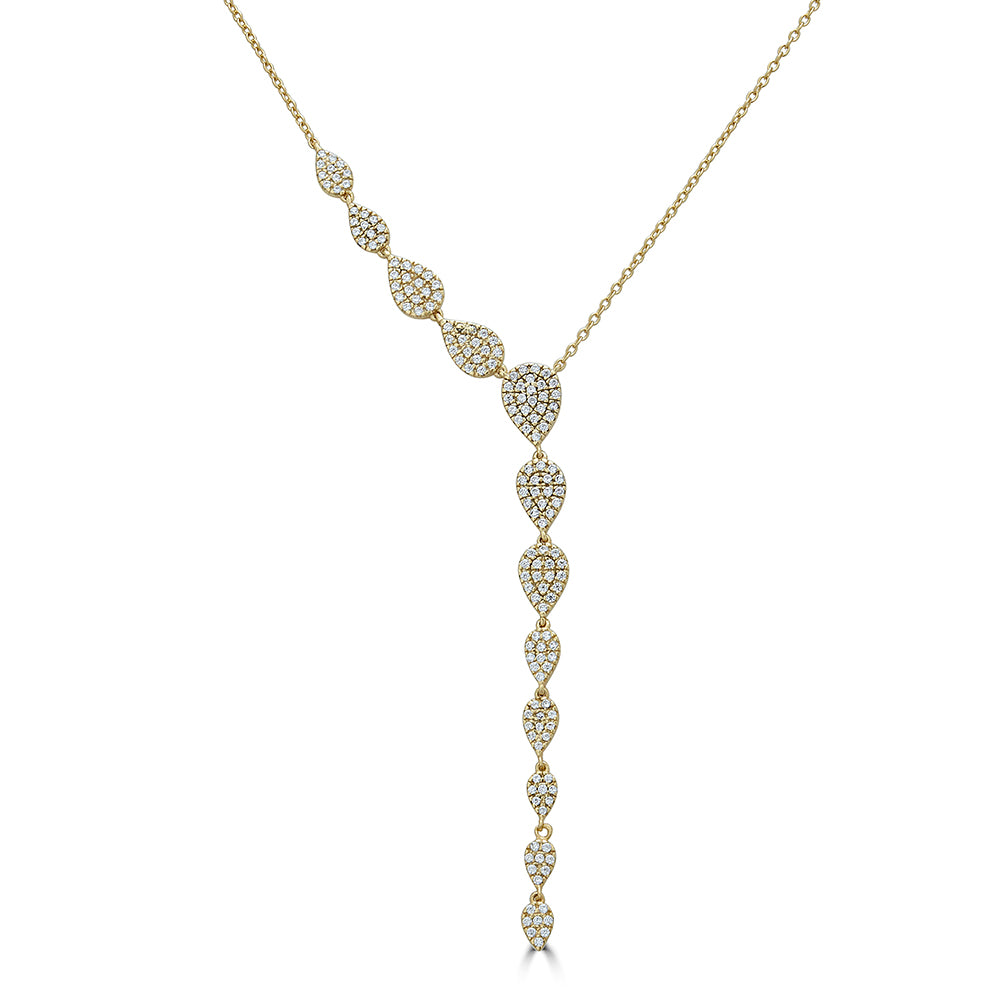 Pave Tear Drop Lariat