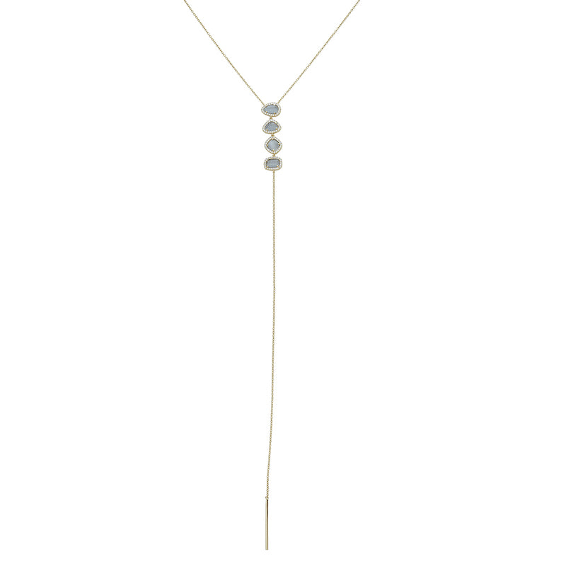 Stone Tear Drop Lariat