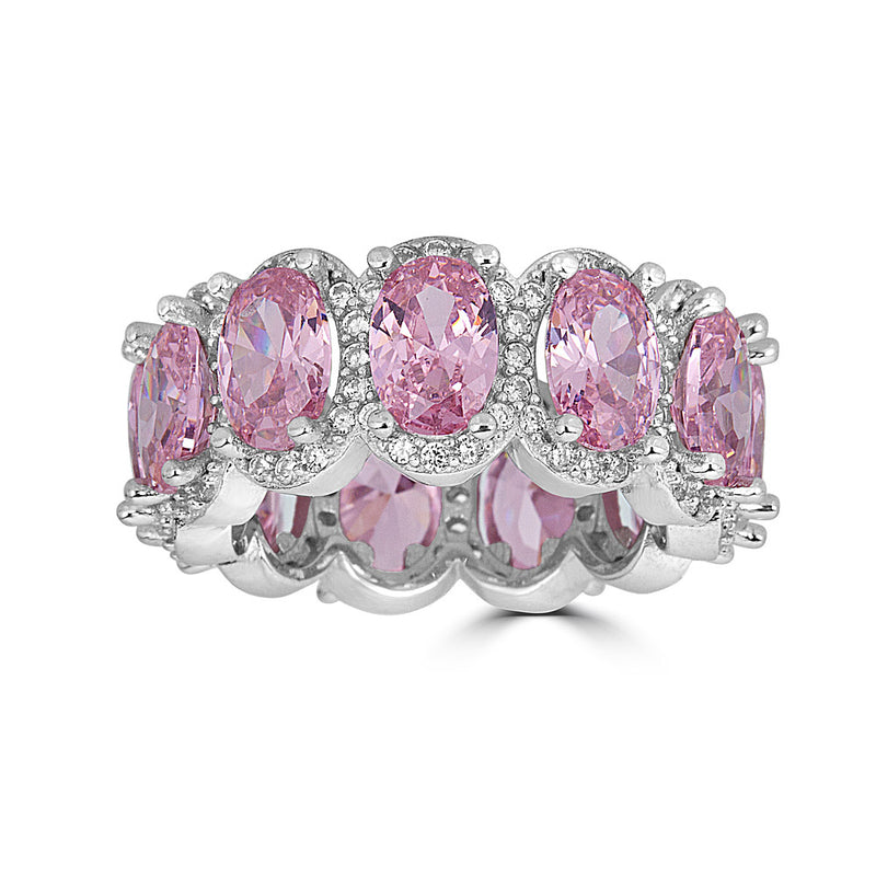 Pink Oval Eternity Band