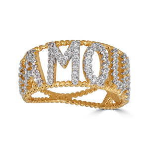 Amour Pave Gold Ring