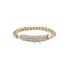 Chain Bar Pave Ring