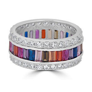 Rainbow and Pave Eternity Band