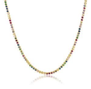 "21.5"" Baroness Rainbow Necklace"