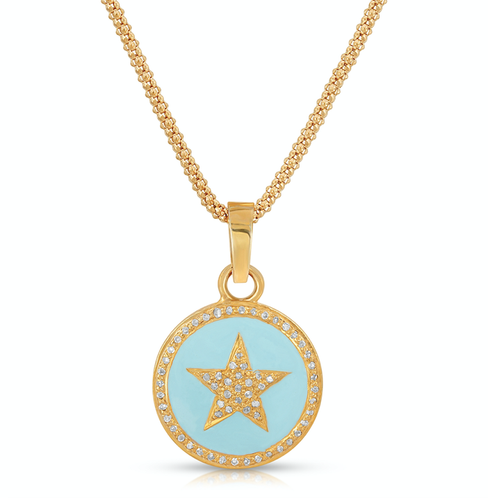 Enamel Star Necklace