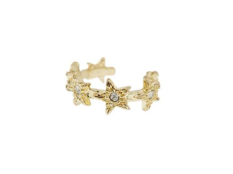 Pave Star Earcuff