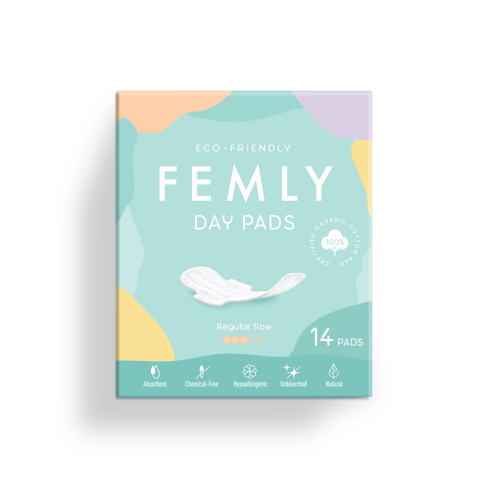 Femly Day Pads-100% Pure Cotton