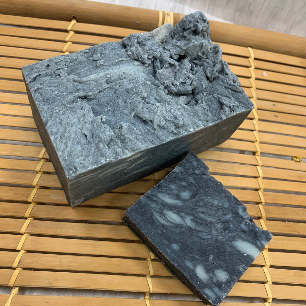 Black Silk Cookie Soap Brick