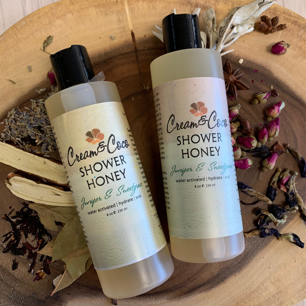 Juniper & Sweetgrass Shower Honey