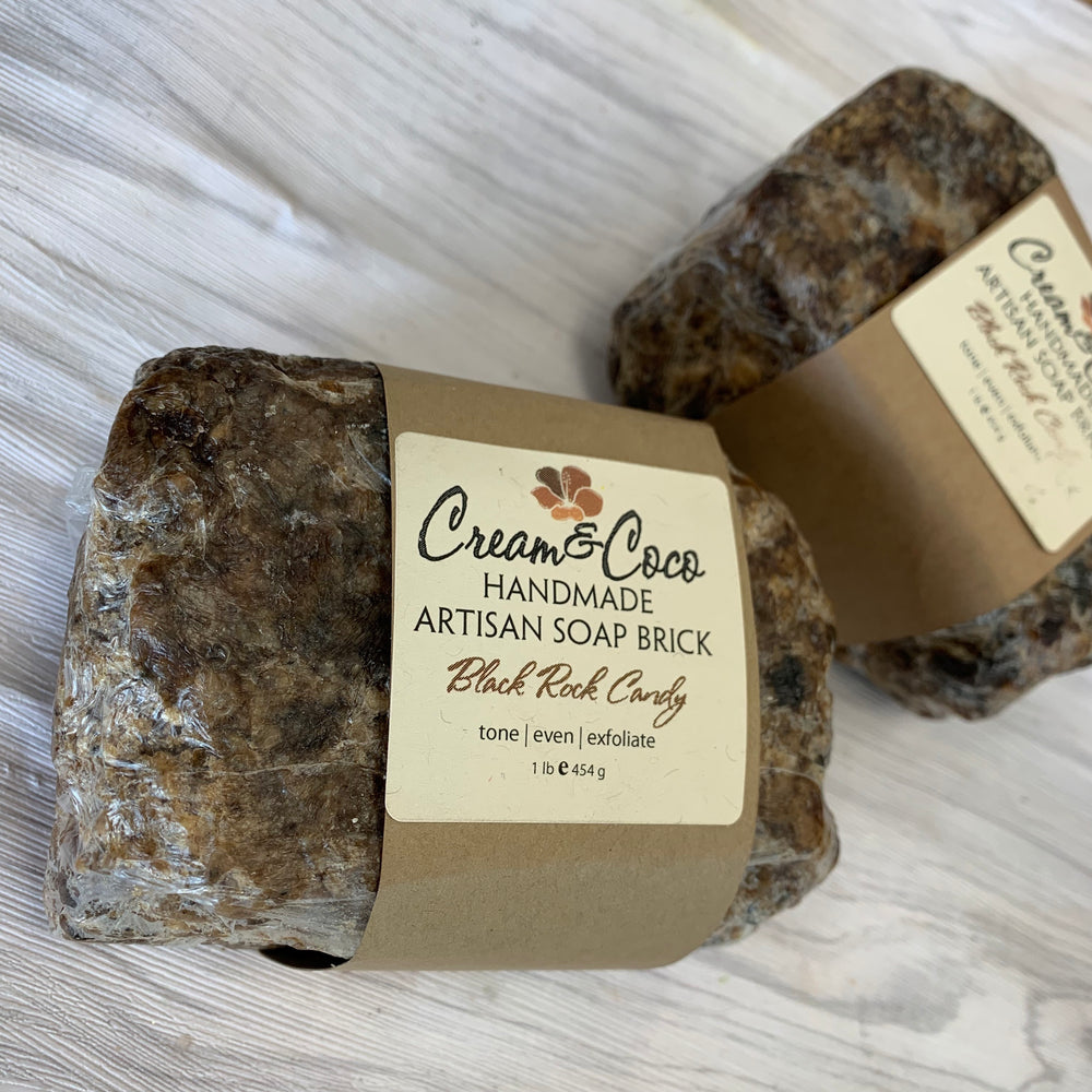 Black Rock Candy Soap Brick