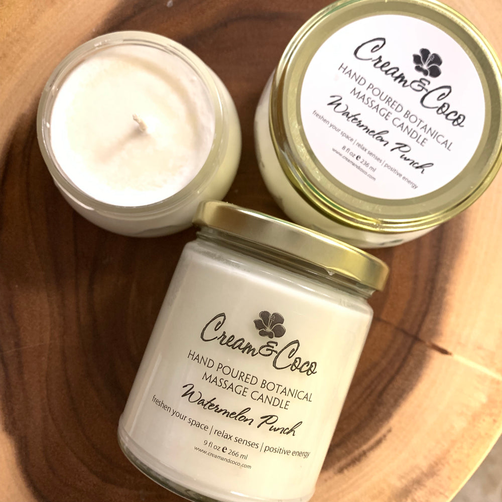 Hand Poured Botanical Massage Candle