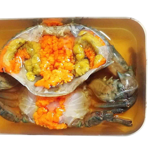 Fish Sauce-Fermented Sea Crab with egg 1 pc 500g. | ปูทะเลไข่ดองน้ำปลา 1 ชิ้น 500ก. - Travel Recommends Shop