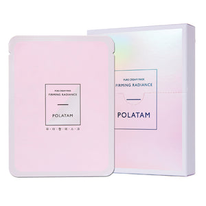 POLATAM Pure Cream Firming Radiance Mask (1 Box of 6 Sheets) - Travel Recommends Shop