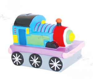 Silicone Coin Bank Painting – Choo Choo Train - Travel Recommends Shop