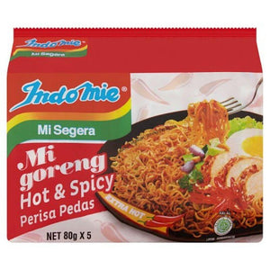 Indomie Mi Goreng Hot & Spicy Flavour Instant Noodles 5 x 80g (Groceries) - Travel Recommends Shop