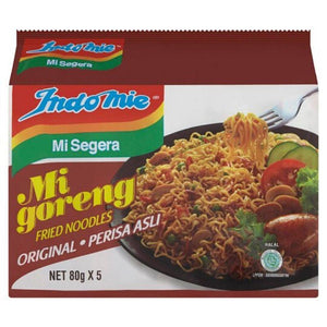 Indomie Mi Goreng Original Fried Noodles 5 x 80g (Groceries) - Travel Recommends Shop
