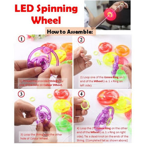 LED Wheel Spinner (Random Colors) - Travel Recommends Shop