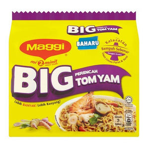 Maggi 2 Minute Noodles Big Tom Yam 5 x 111g (Groceries) - Travel Recommends Shop