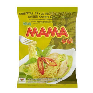 Mama Oriental Style Instant Noodles Green Curry Flavour 5 x 55g (Groceries) - Travel Recommends Shop