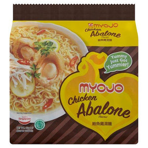 Myojo Chicken Abalone Flavour Instant Noodles 5 x 79g (Groceries) - Travel Recommends Shop