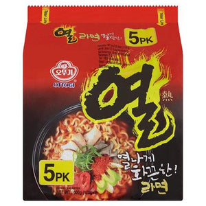 Ottogi Yeul Ramen 5 Packs x 120g (600g) (Groceries) - Travel Recommends Shop