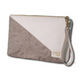 DOI2 PROJECT Paper Canvas Clutch - Creamy White W/ Grey Paper - Travel Recommends Shop