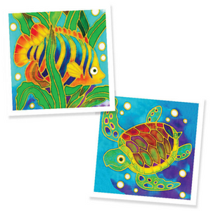 Batik Painting 2-In-1 Box - Design Fish and Sea Turtle - Travel Recommends Shop