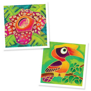 Batik Painting 2-In-1 Box - Design Rafflesia Flower and Hornbill - Travel Recommends Shop