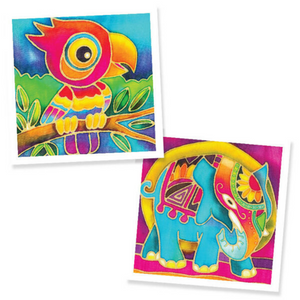 Batik Painting 2-In-1 Box - Design Parrot and Elephant - Travel Recommends Shop