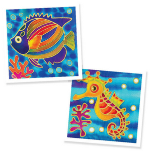 Batik Painting 2-In-1 Box - Design Fish and Seahorse - Travel Recommends Shop