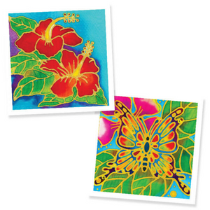Batik Painting 2-In-1 Box - Design Hibiscus Flower and Butterfly - Travel Recommends Shop
