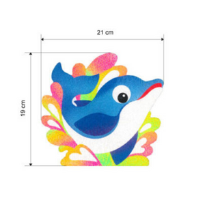 Sand Art Animals Deco Board - Design Dolphin - Travel Recommends Shop