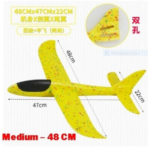 Plane Glider (Various Sizes) - Yellow color - Travel Recommends Shop