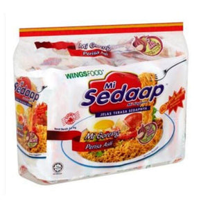 WingsFood Mi Sedaap Mi Goreng Original Flavour Instant Noodles 5 x 91g (Groceries) - Travel Recommends Shop