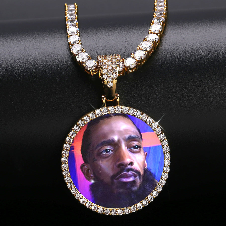 Custom Iced 3D Photo Pendant