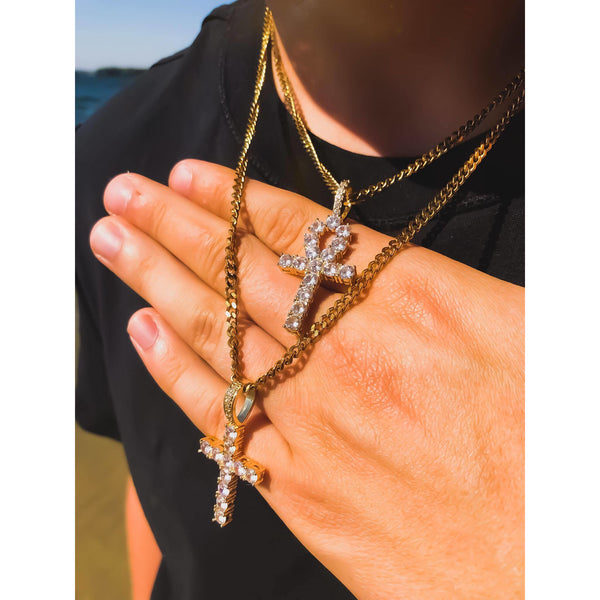 Diamond Cross + Ankh Cross Set