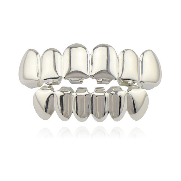 PRE-MADE Silver Grillz Top & Bottom