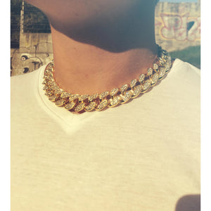 15mm Iced Cuban Link Chain