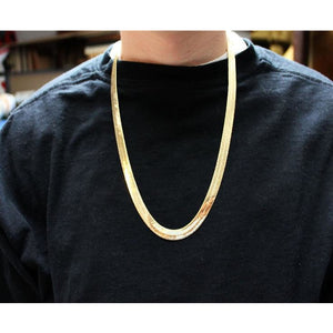 gold herringbone chains